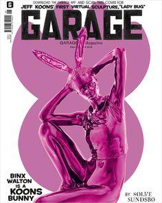 Binx Walton Garage Magazine Cover Jeff Koons, graphic design, colorful