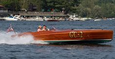 1991 25' Clarion Boats Gold Cup Racer Classic Antique Wooden Boats For Sale | Pb615 | Port Carling Boats