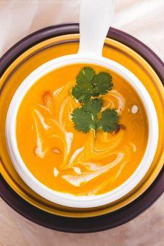 zupa z batatów z mlekiem kokosowym Polish Recipes, Polish Food, Thai Red Curry, Feta, Food And Drink, Healthy, Ethnic Recipes, Drinks, Drinking