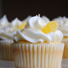 Triple Lemon Cupcakes:  Homemade By Holman