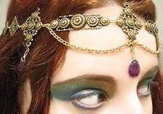 Head Circlet.  I might try to make one of these for myself.  Saw this one at stylehive.com
