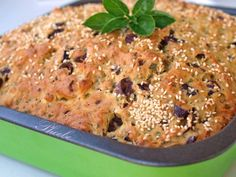 Cyprus Food, Pizza Pastry, Greek Pastries, A Food, Food And Drink, Olive Bread, Greek Cooking, Salty Cake, Savoury Cake