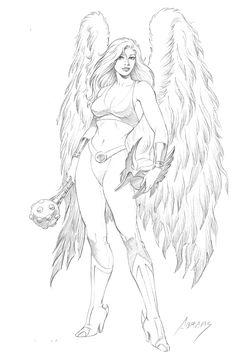 Hawkgirl by Paul Abrams