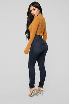 Available In Black, Ivory, And CognacSquare NeckLong SleeveCheeky BottomSnap Button Polyester Rayon SpandexMade In U. Pretty Outfits, Beautiful Outfits, Cute Outfits, Sexy Jeans, Curvy Jeans, Sexy Dresses, Fashion Dresses, Curvy Girl Fashion, Womens Fashion