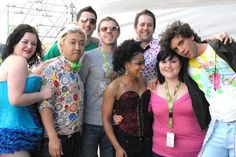 MIKA with Beth Ditto (of The Gossip) and his former band, a Big Girl dancer named Ophelia Bitz, and Jake Shears of The Scissor Sisters 2007