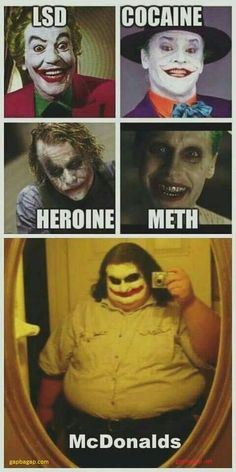 Funny Pictures Of Drugs vs. McDonalds