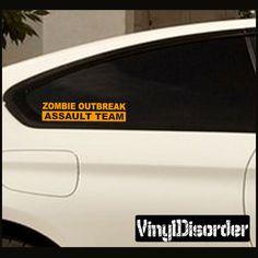 Zombie Response Team KC07 Assault Team Vinyl Decal Car or Wall Sticker Mural