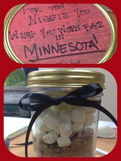 Hot coco mason jar!