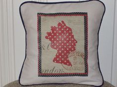 shabby chic, french country Queen Elizabeth pillow sham  by kreativbyerika, $30.00
