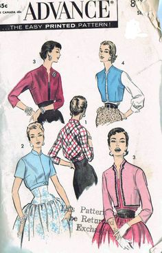 40% Off All Vintage Sewing Patterns thru 12-13-2012! Advance 8087 by SewCraftful on Etsy, $15.00, less discount.