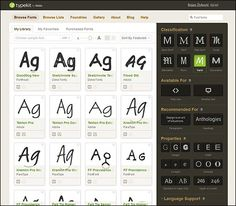 Adobe Typekit online library for Creative Cloud subscribers