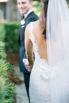 Tendance Robe De Mariée 2017/ 2018 : Low back lace gown: www.stylemepretty... | Photography: Aaron & Jillian - www.aa...   https://flashmode.be/tendance-robe-de-mariee-2017-2018-low-back-lace-gown-www-stylemepretty-photography-aaron-jillian-www-aa/  #RobeMariage