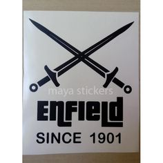 Custom crossed sword sticker for Royal Enfield Bullet. Available in Different colors. #MadeLikeArt