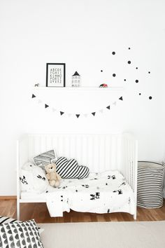 Monochrome Scandinavian style kids room