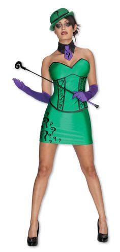 Amazon.com: DC Comics Secret Wishes Super Villain Riddler Costume: Adult Sized Costumes: Clothing