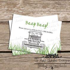 Adult Birthday Invitations #muddin #jeep #guybirthdays TeAmoCharlie, $10.00