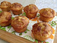 Muy Locos Por La Cocina: Muffins de Manzana, Canela y Yogur Yogurt Muffins, Apple Muffins, Pear Recipes, Sweet Recipes, Cranberry Muffins, Sweet Bakery, Cheesecake, Pan Dulce, Exotic Food