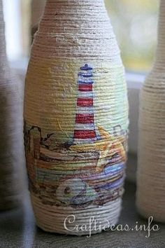 Image result for how to fabric decoupage wine bottle #recycledwinebottles