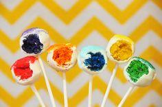 Cake pops de colores / Colourful cake pops
