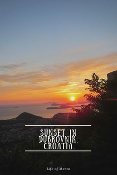 Beautiful sunset in Dubrovnik, Croatia. #travel #sunset
