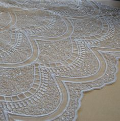 Boho Wedding Lace Fabric Embroidery Corded Bridal Lace Off