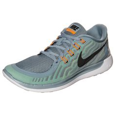 Nike Free 5.0+ Laufschuhe Herren Grau/Neon Grün