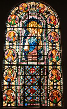 Vitral de la Basílica Menor de Nuestra Señora del Pilar en Pilar (Ñeembucú)
