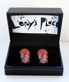 David Bowie Cufflinks by leroysplace on Etsy, $32.00