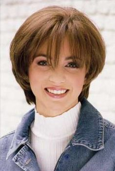 Human hair straight short wig by Clary. This is Clary's shortest straight style. It is a perky, youthful, and FUNKY look. It has a bangs, a side part, and tapered foot Short Wigs, Straight Hairstyles, Bangs, Short Hair Styles, Chic, Color, Fringes, Bob Styles, Shabby Chic