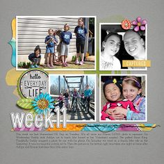 Daily Life Week 11  Daily Life Templates 3 by Scrapping with Liz Everyday Snippets Issue #3 by Createwings Designs