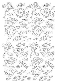 100 Fish to color, From the gallery : Animals, Artist : Olivier …