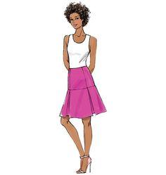 B6060, Misses' Skirt