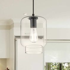 Shop for The Gray Barn Modern Black Glass Pendant - Get free delivery On EVERYTHING* Overstock - Your Online Ceiling Lighting Store! Clear Light Bulbs, Light Bulb Types, Ceiling Light Fixtures, Ceiling Lights, Ceiling Fan Price, Overhead Lighting, Pendant Lighting, Candle Chandelier, Lantern Pendant