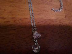 Double pink rhinestone necklace