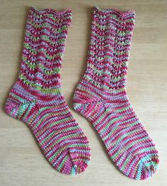 Ravelry: Feather & Fan Fixation Socks pattern by Candy Grastorf