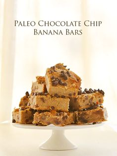 Paleo Chocolate Chip Banana Bars