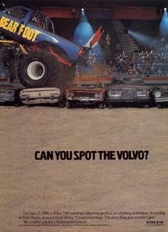 Solid Swedish Quality - Can You Spot The Volvo? Volvo V70r, Volvo Wagon, Funny Car Memes, Car Humor, Car Brochure, Classic Motors, Classic Auto, 4x4 Trucks, Vintage Ads