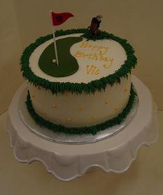 Buttercream Cake Borders | golf theme cake in buttercream golf theme cake in buttercream this is ...