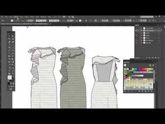 Video Week 3 – 52 weeks Adobe Illustrator for fashion design series – Dress fashion flat sketch cascading ruffle details – Rotate print inside of flat sketch detail | Convenient online learning since est. 2005