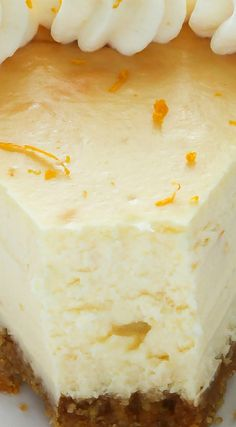 Lemon Ricotta Cheesecake ~ Sweet and creamy, this easy-to-make cheesecake is the perfect addition to any dessert table! Italian Desserts, Lemon Desserts, Lemon Recipes, Just Desserts, Sweet Recipes, Baking Recipes, Delicious Desserts, Yummy Food, Lemon Ricotta Cheesecake