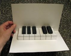 Easy Piano Pop Up Card- I want to try this!!                                                                                                                                                                                 More