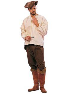 Men's Renaissance Peasant Man Costume - Mens Renaissance Halloween Costumes