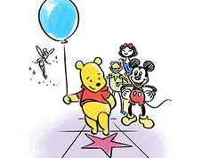 along the Hollywood Walk of Fame, you might see a familiar name......Winnie the Pooh has a star, as do several other Disney characters including Tinker Bell, Donald Duck, Kermit the Frog, The Muppets, Snow White, and Mickey Mouse.