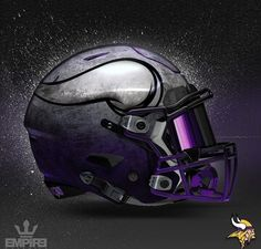 Minnesota Vikings Concept Design Football helmet