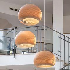 "Bunch of Maple ""wind"" lamps  Home styling : Shiri Shemer  Photo: Shiran Carmel  #vayehistudio #woodworking #woodwork #handmade #artandcraft #makers #productdesign #designinspiration #interior #homewares #designer #interiordesign #designers #homedecor #homestyling #light #lighthouse #lighting #interiordesign #instadesign #lightdesign #designstudio #photooftheday #עיצובפנים  #אדריכלות  #בלוגעיצובפנים #גלריה #רהיטי_יוקרה #עיצובישראל #גופיתאורה #עבודת יד    #Regram via @studio_vayehi"