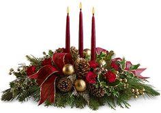 bouquet de table de noël | Bouquet de Noël: couleurs et parfums de Fête.Le blog FleursInfo