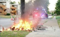 Michael Brown Memorial Burned, Ferguson Riots Erupt Again [Video]