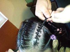 Peinado para niña. De 5 trenzas