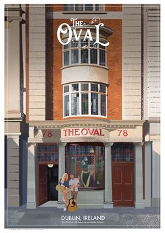 The Oval Pub in Dublin, Ireland. Dublin Pubs, Dublin Ireland, Victorian Buildings, Pub Signs, Travel Posters, Irish, Irish People, Ireland, Irish Language