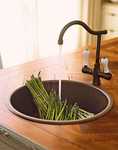 Prep sink - great idea for kitchens with the space to do this.